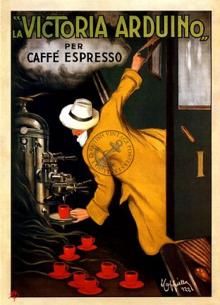 French Coffee Poster
